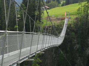 Holzgau, suspension bridge, Austria