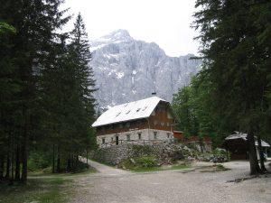 Jakob Aljaž's hut in Vrata Valley, Slovenia