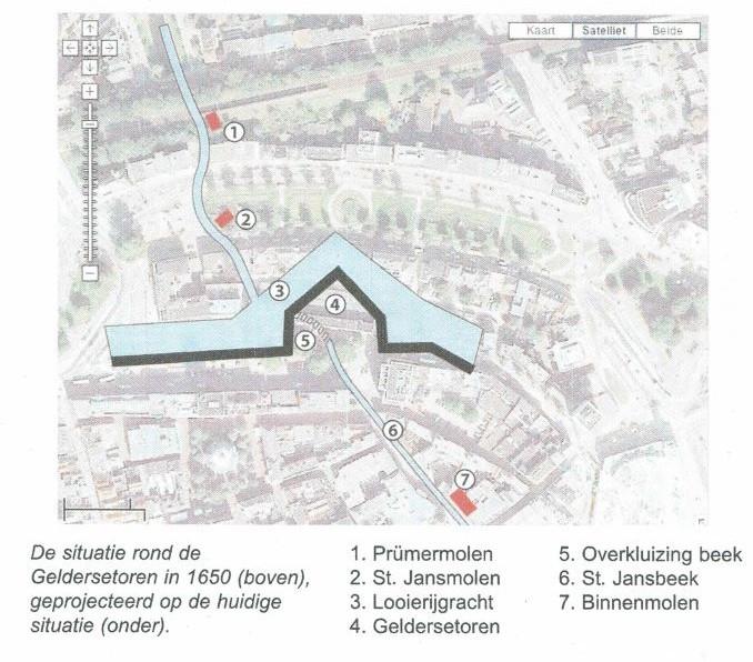 Loop St. Jansbeek in binnenstad nu